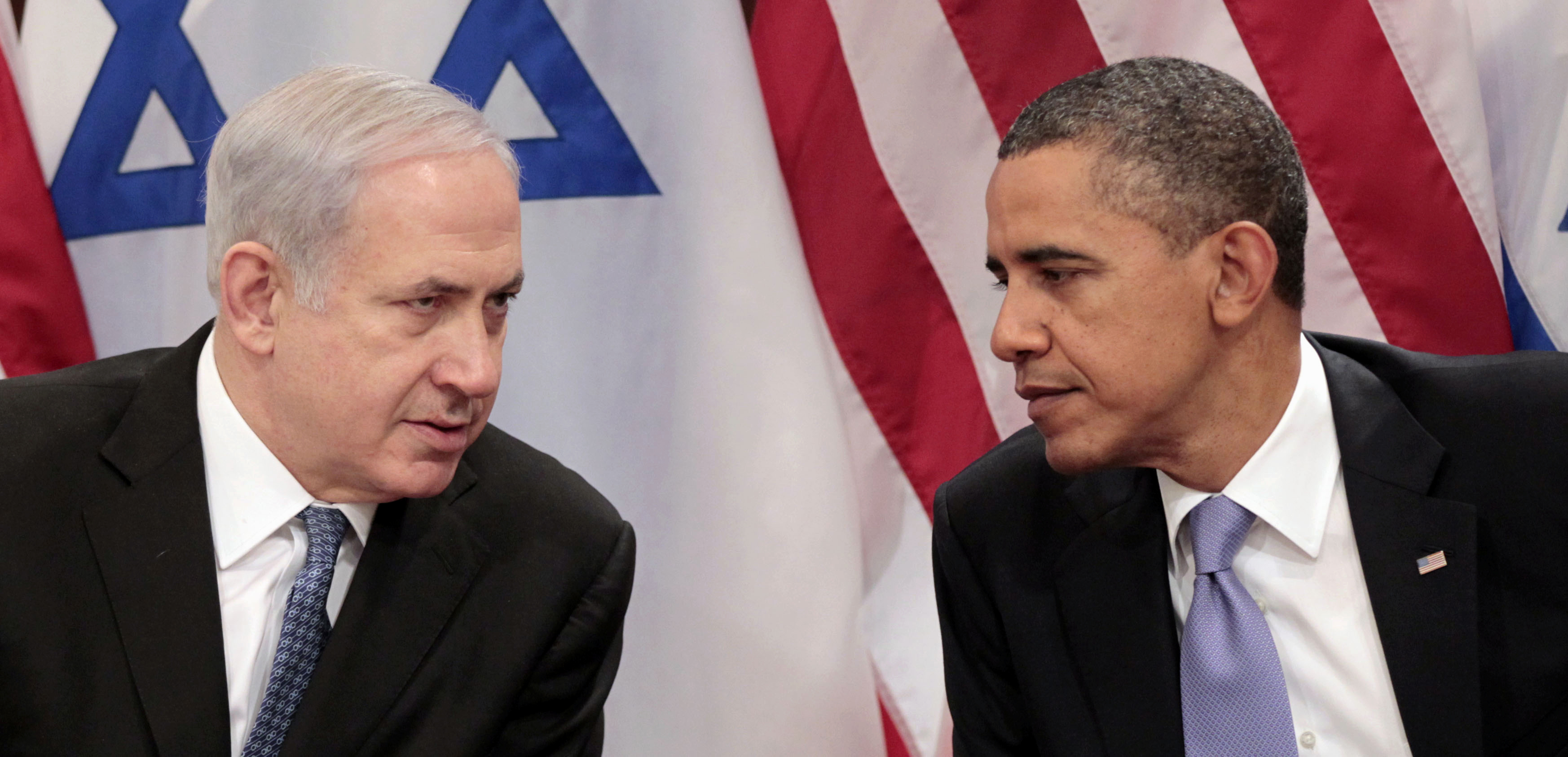 In this Sept. 21, 2011, file photo, President Barack Obama meets with Israeli Prime Minister Benjamin Netanyahu at the United Nations. (Pablo Martinez Monsivais/AP)