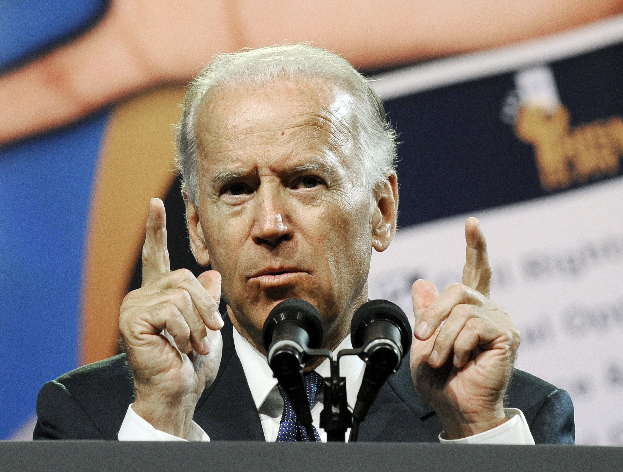 Vice President Joe Biden addresses the NAACP annual convention in Houston in July. (Pat Sullivan/AP)