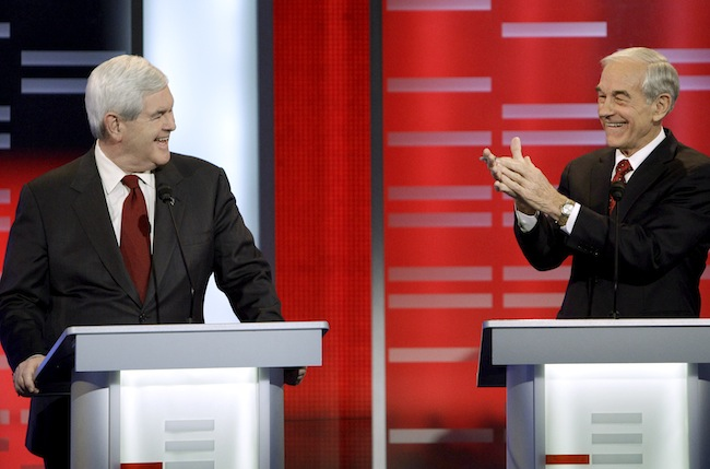 Gingrich and Paul agree that federal student loans should be phased out. (AP)