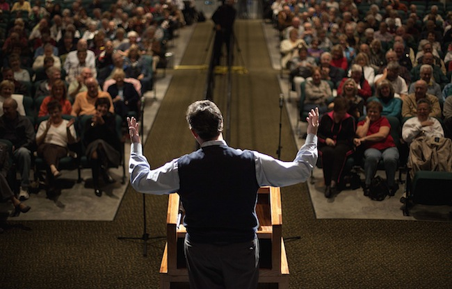 Santorum at a town hall Thursday (AP)