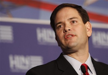 Rubio addresses the Hispanic Leadership Conference. (AP/Alan Diaz)