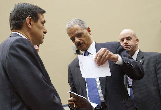 Issa and Holder meet for a hearing in February (J. Scott Applewhite/AP)