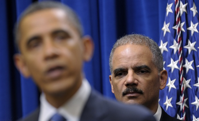 President Barack Obama and Attorney General Eric Holder (Susan Walsh/AP)