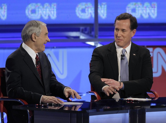 Ron Paul and Rick Santorum (Jae C. Hong/AP)