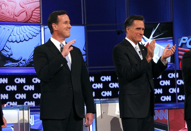 Santorum and Romney (Ross D. Franklin/AP)