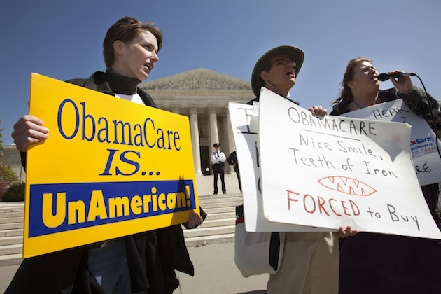 Health care law protesters (Jacquelyn Martin/AP)