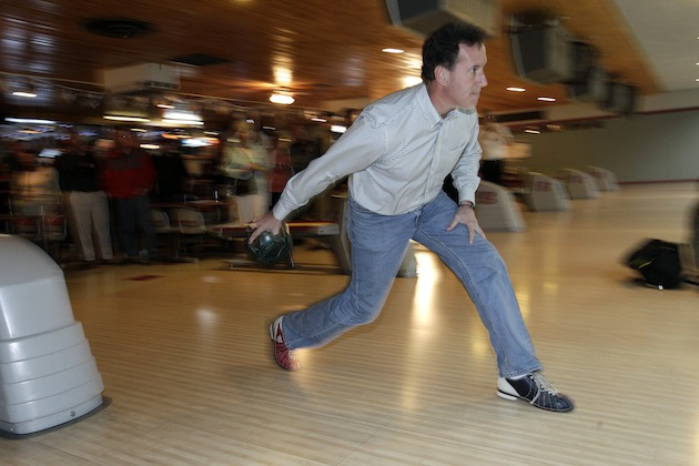 Teen Bowling Champion Offers Bowling Tips To Rick Santorum