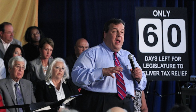 Christie counting down the days to the end of the legislative session in Garfield, N.J.,(Mel Evans/AP)