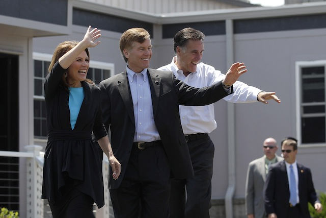 Virginia Gov. Bob McDonnell with Mitt Romney in May (Jae C. Hong/AP)