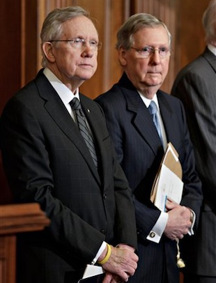 Senate Leaders Harry Reid and Mitch McConnell (J. Scott Applewhite/AP)