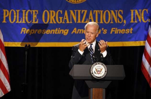 Vice President Joe Biden speaks at the annual convention of the National Association of Police Organizations on Monday (Lynne Sladky/AP)