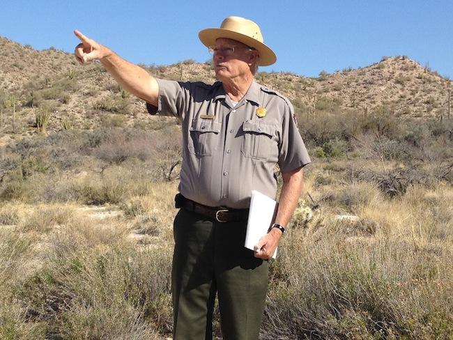 Ranger Ken Hires in Organ Pipe Cactus National Monument. (Liz Goodwin/Yahoo News)