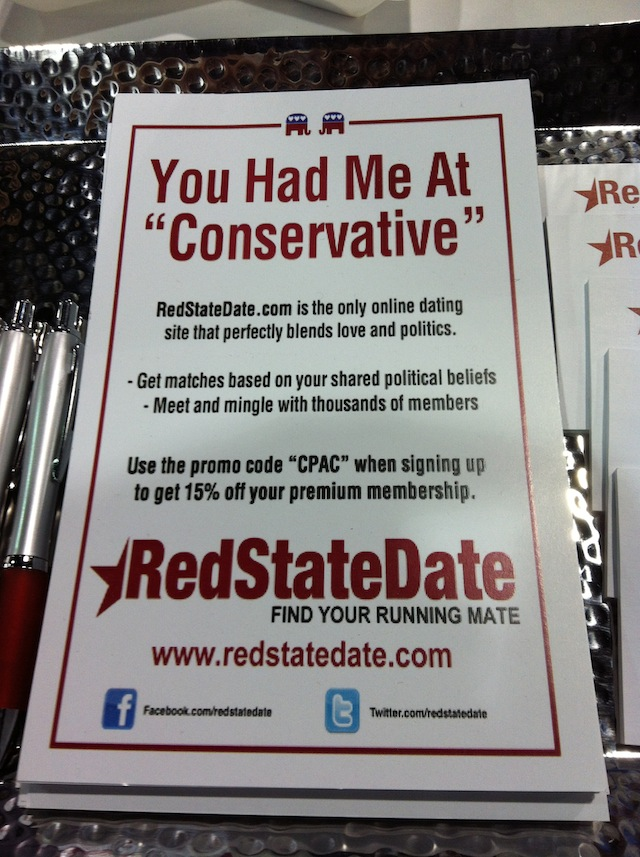 Tour the CPAC exhibit hall, where you can load up on conservative swag