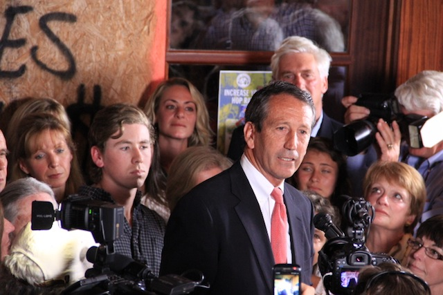 Mark Sanford at victory party in Mount Pleasant, South Carolina (Yahoo News)