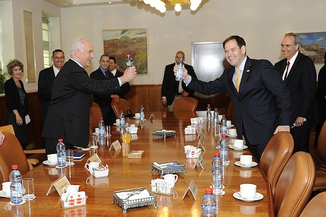 Benjamin Netanyahu and Marco Rubio (Photo courtesy of Marco Rubio's office)