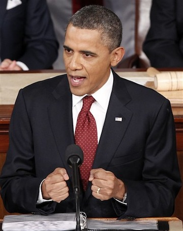 President Barack Obama delivers his State of the Union address Tuesday. (J. Scott Applewhite/AP)