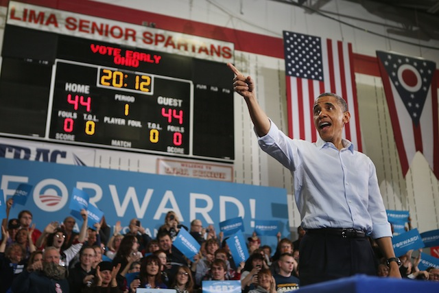 President Barack Obama in Lima, Ohio. (Chip Somodevilla/Getty Images)