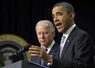President Obama with Vice President Biden (Susan Walsh/AP)