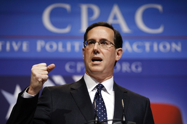 Rick Santorum at CPAC (Jose Luis Magana/AP)
