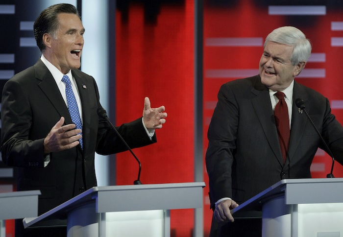 Romney and Gingrich (AP)