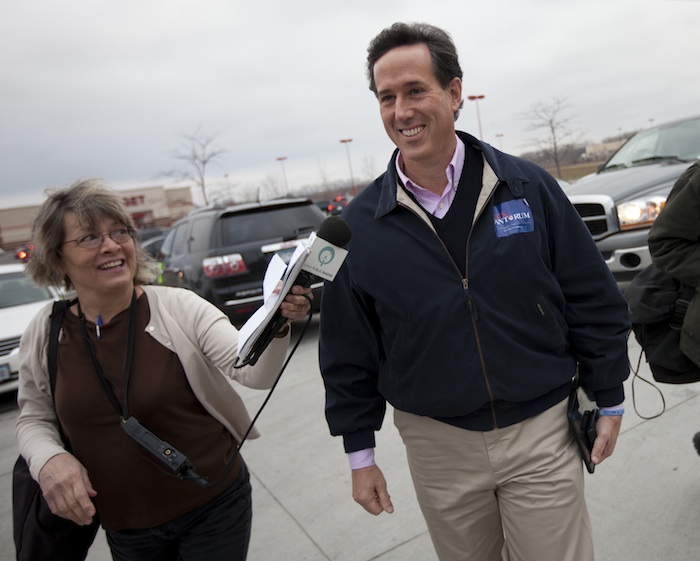 Santorum (Evan Vucci:AP)