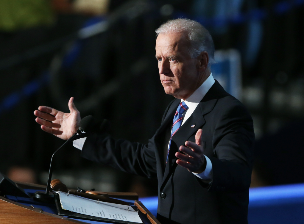 Vice President Joe Biden at the DNC in Charlotte, NC (Streeter Lecka/Getty Images)