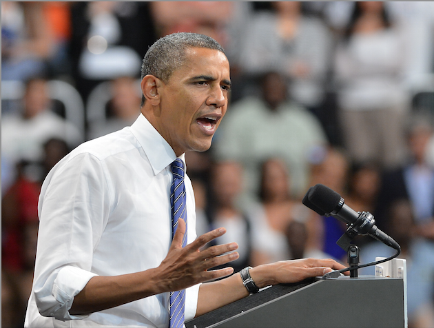 President Barack Obama at a recent grass-roots event in Miami (Vallery Jean/Getty)