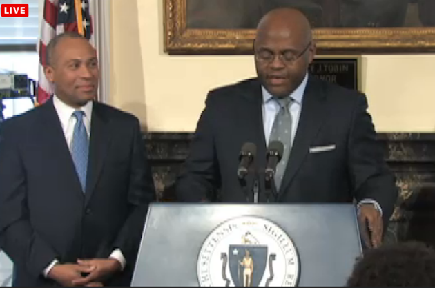 Mo Cowan speaks at Wednesday's press conference (Screenshot)