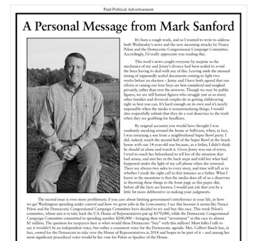 Mark Sanford ad (screenshot)