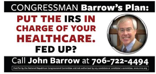 NRCC ad against Rep. John Barrow of Georgia.