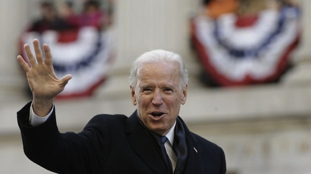 Vice President Joe Biden walks down Pennsylvania Avenue on Jan. 21. (Carolyn Kaster/AP)