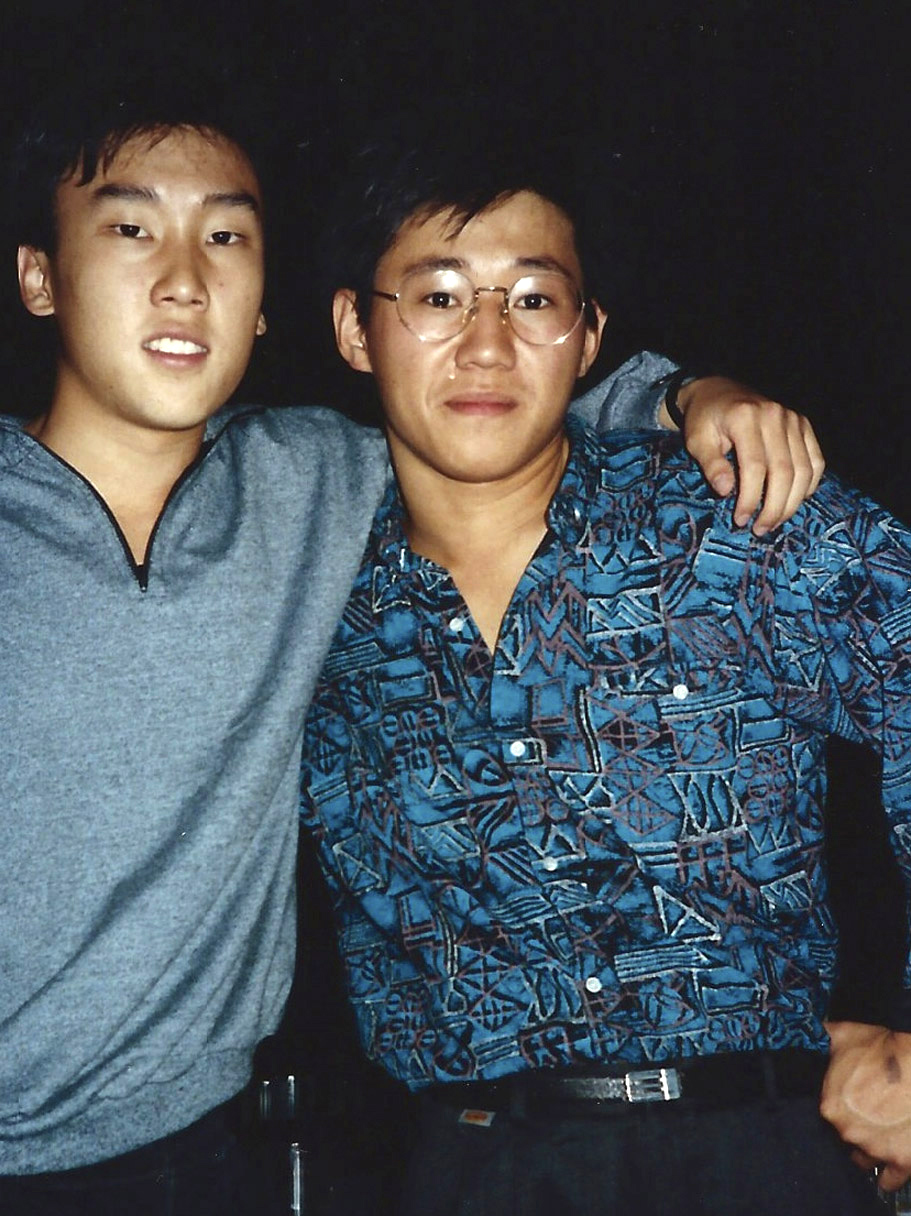 Kenneth Bae (R) and actor Bobby Lee when they were freshmen at the University of Oregon. (Photo courtesy of Bobby Lee, via the Register-Guard and AP)
