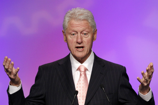 Bill Clinton speaks at the 2012 United Auto Workers union conference, March 1, 2012. (Jacquelyn Martin/AP)