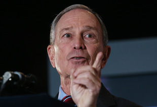 Bloomberg at his State of the City address (Mario Tama/Getty Images)