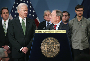 Biden and Bloomberg at City Hall (John Moore/Getty Images)