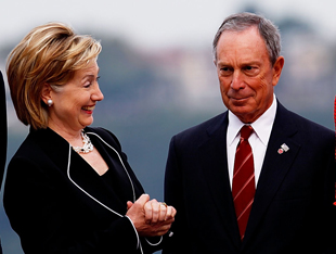 Clinton and Bloomberg in 2009 (Joe Kohen/WireImage via Getty Images)