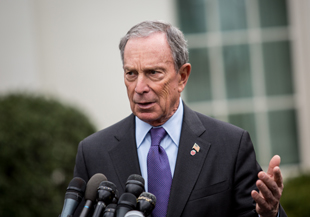 New York City Mayor Michael Bloomberg at the White House on Wednesday (Drew Angerer/Getty Images)