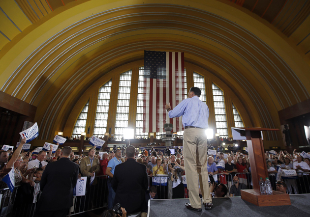 Romney in Cincinnati (Brian Snyder/Reuters)