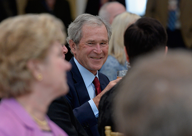 Bush at his new library on Wednesday (Kevork Djansezian/Getty Images)