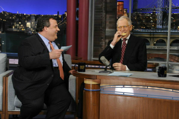 Christie and Letterman (CBS/Worldwide Pants)