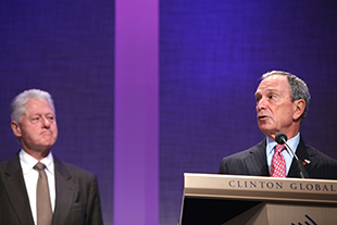 Clinton and Bloomberg at a 2009 CGI meeting (Spencer Platt/Getty Images)