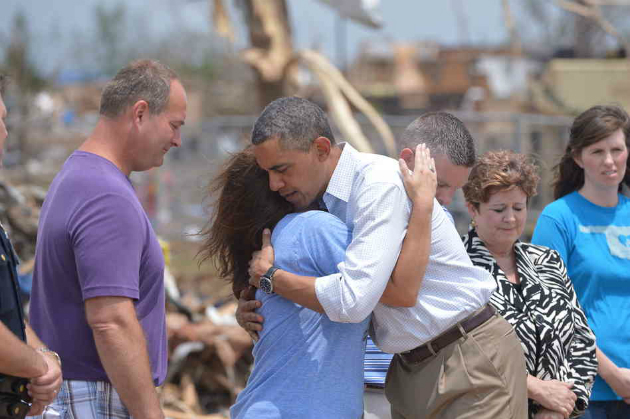 President Obama tours the devastation in Moore, Okla., May 26, 2013. (Mandel Ngan /AFP/Getty Images)