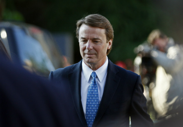 Edwards outside of federal court in Greensboro, N.C., April 23, 2012. (Gerry Broome/AP)