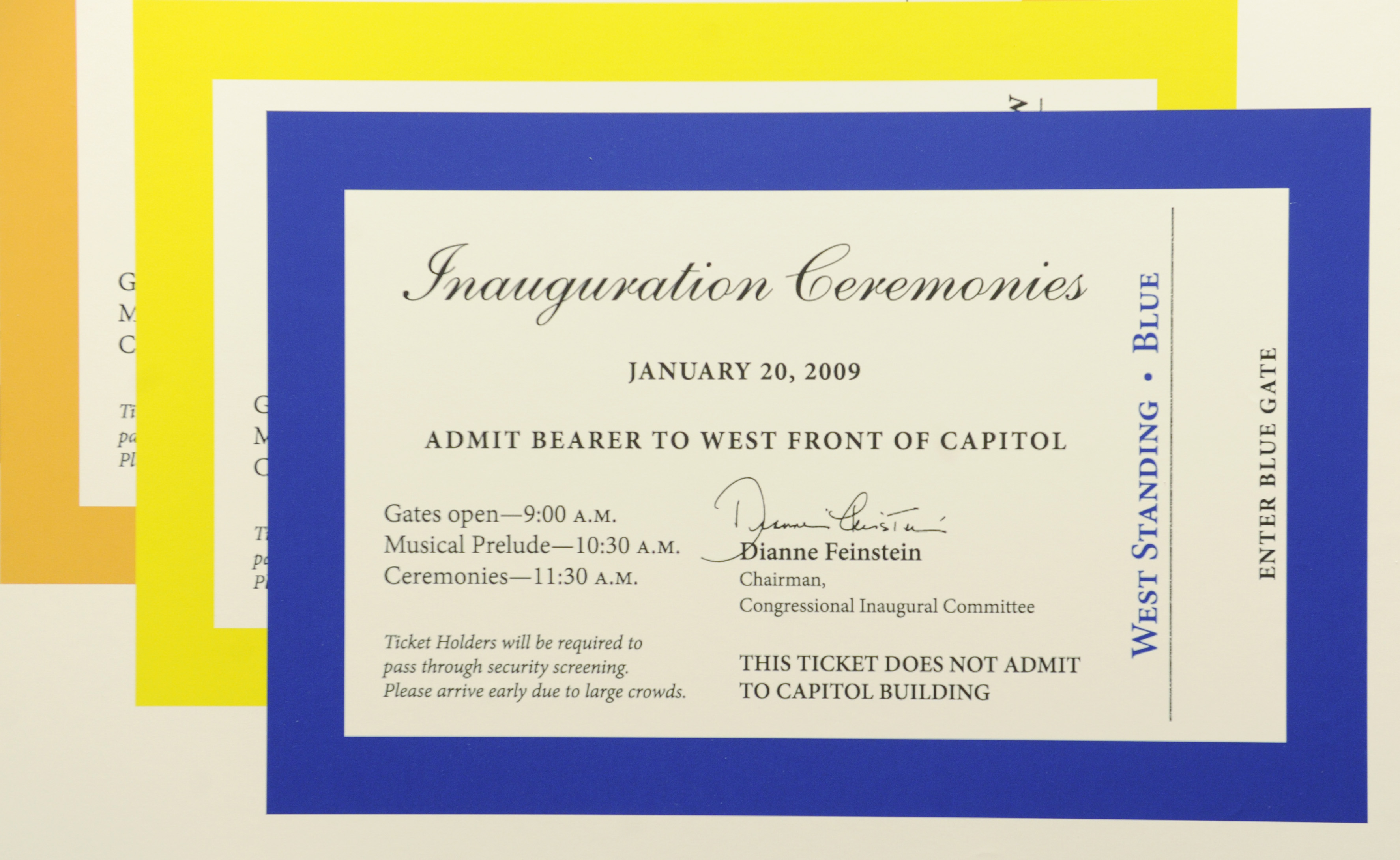 A Jan. 12, 2009, file photo shows inauguration tickets as they were being counted and distributed on Capitol Hill. (Susan Walsh/AP)