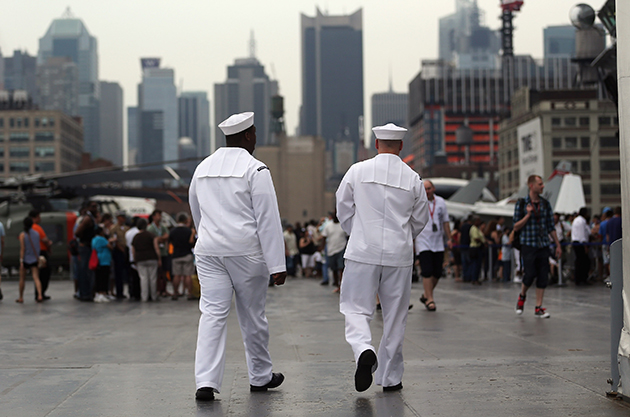 Sailors stroll through New York during Fleet Week 2012. (Mario Tama/Getty Images)