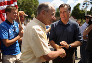 Grassley and Romney in Iowa in 2011 (Chip Somodevilla/Getty Images)