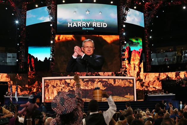 Reid at the DNC (Justin Sullivan/Getty Images)
