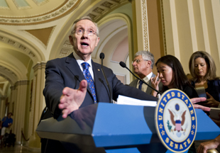 Reid on Capitol Hill (J. Scott Applewhite/AP)