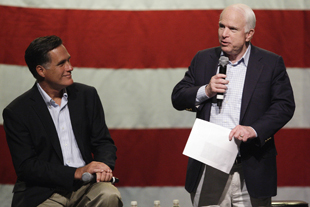 McCain and Romney in 2010 (Ross D. Franklin/AP)