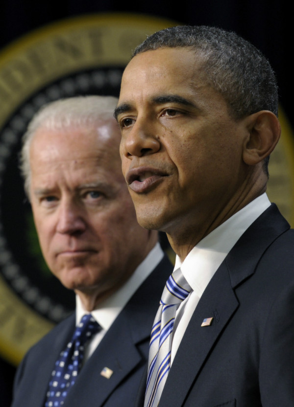 President Barack Obama and Vice President Joe Biden, Feb. 21, 2012 (Susan Walsh/AP)
